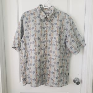 Columbia blue Hawaiian shirt sz L